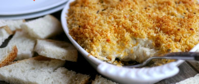 Cheesy Deviled Crab Dip