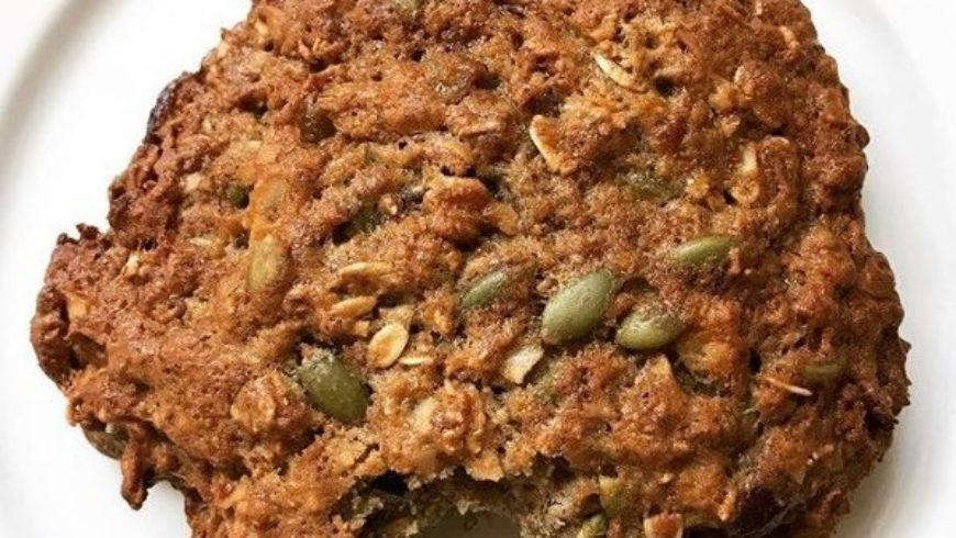 Healthy Oat Raisin Carrot Breakfast Cookie