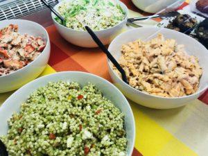 deli case cous cous salad