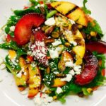 salad peach arugula