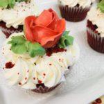 valentines dessert rose cupcakes