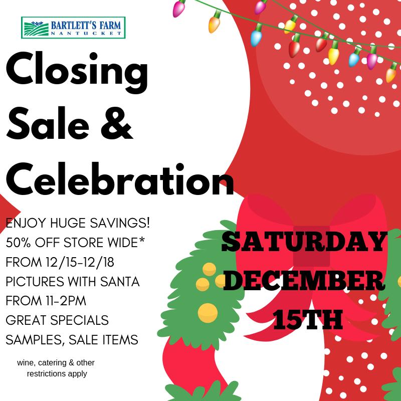 closing sale 2018