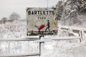 bartlett's sign, snow
